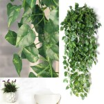 Nk 2 Strands Fake Ivy Leaves Artificial Ivy Garland Greenery Decor Faux Green Hanging Plant Vine For Wall Party Wedding Room Home Kitchen Indoor Outdoor Decoration Walmart Canada