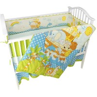 Seed Sprout - Noah's Ark 4-Piece Crib Bedding Set ...