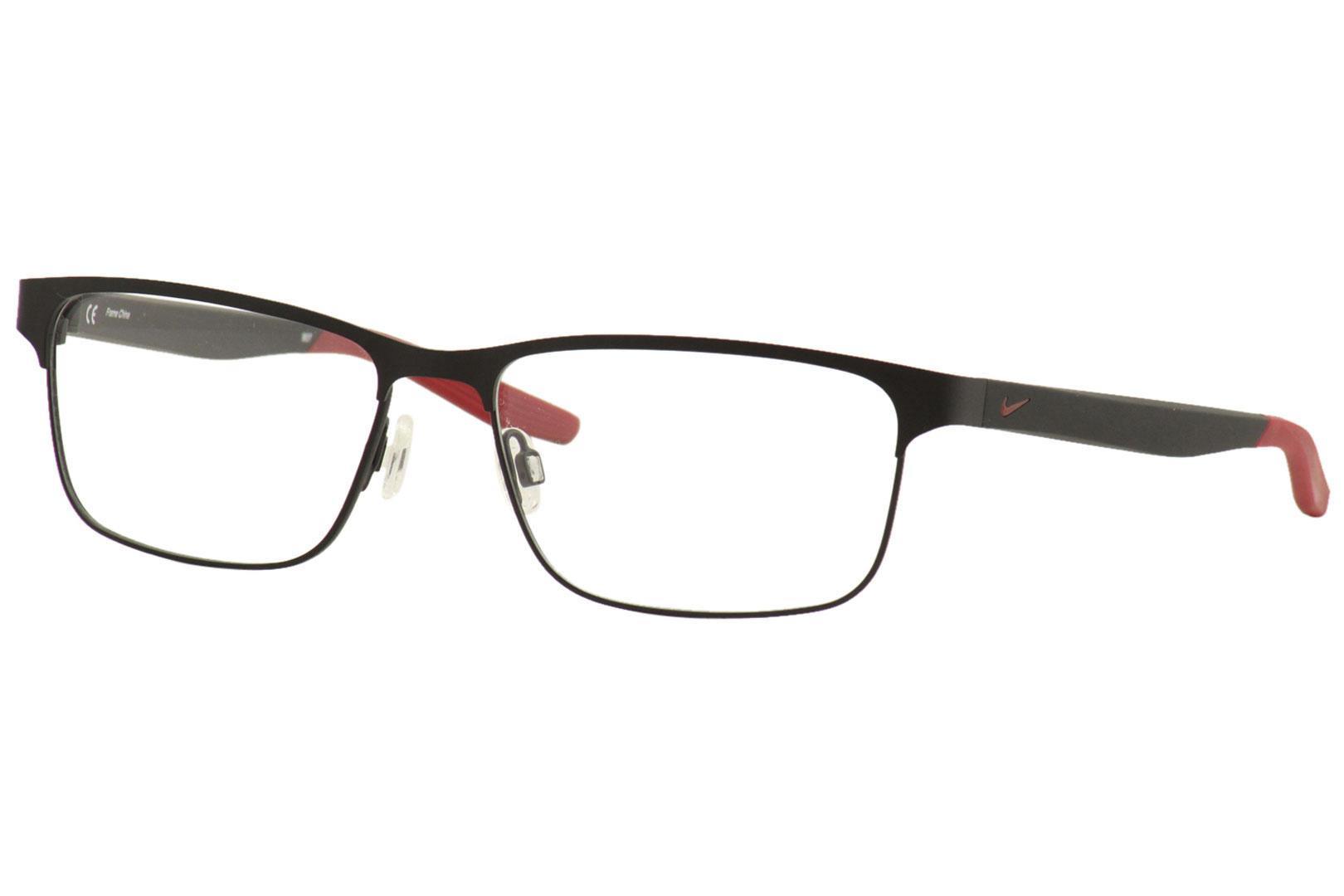 Nike Men's Eyeglasses 8130 073 Satin Black Full Rim ...