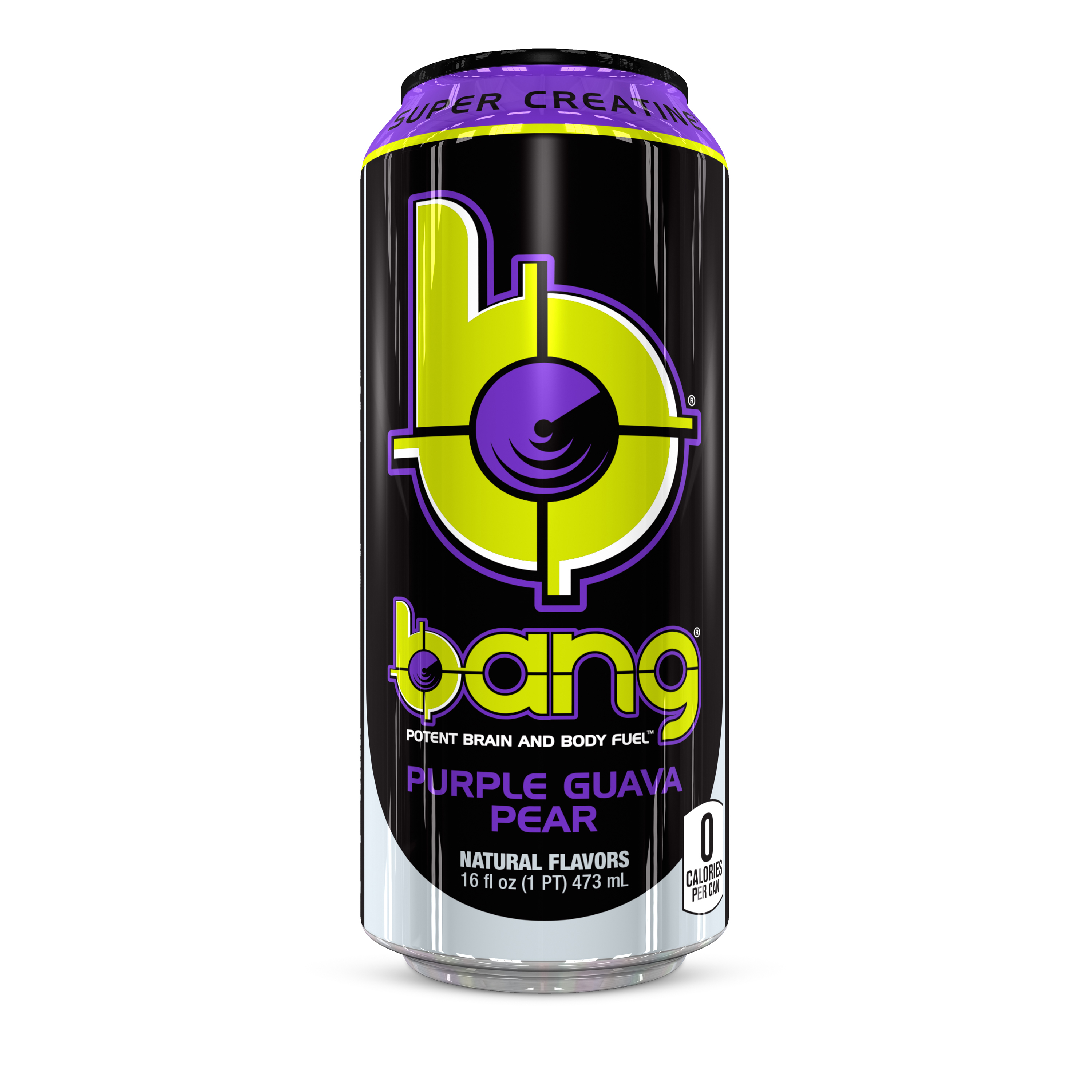 Bang Guava Pear Energy Drink with Super Creatine 16 oz ...
