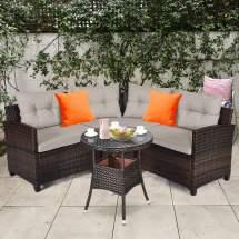 gymax 4pcs patio furniture set