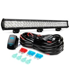 nilight 25inch 162w led light bar spot flood combo led off road lights with wiring harness kit and 12v 5pin rocker switch 2 years warranty walmart com [ 1001 x 1001 Pixel ]