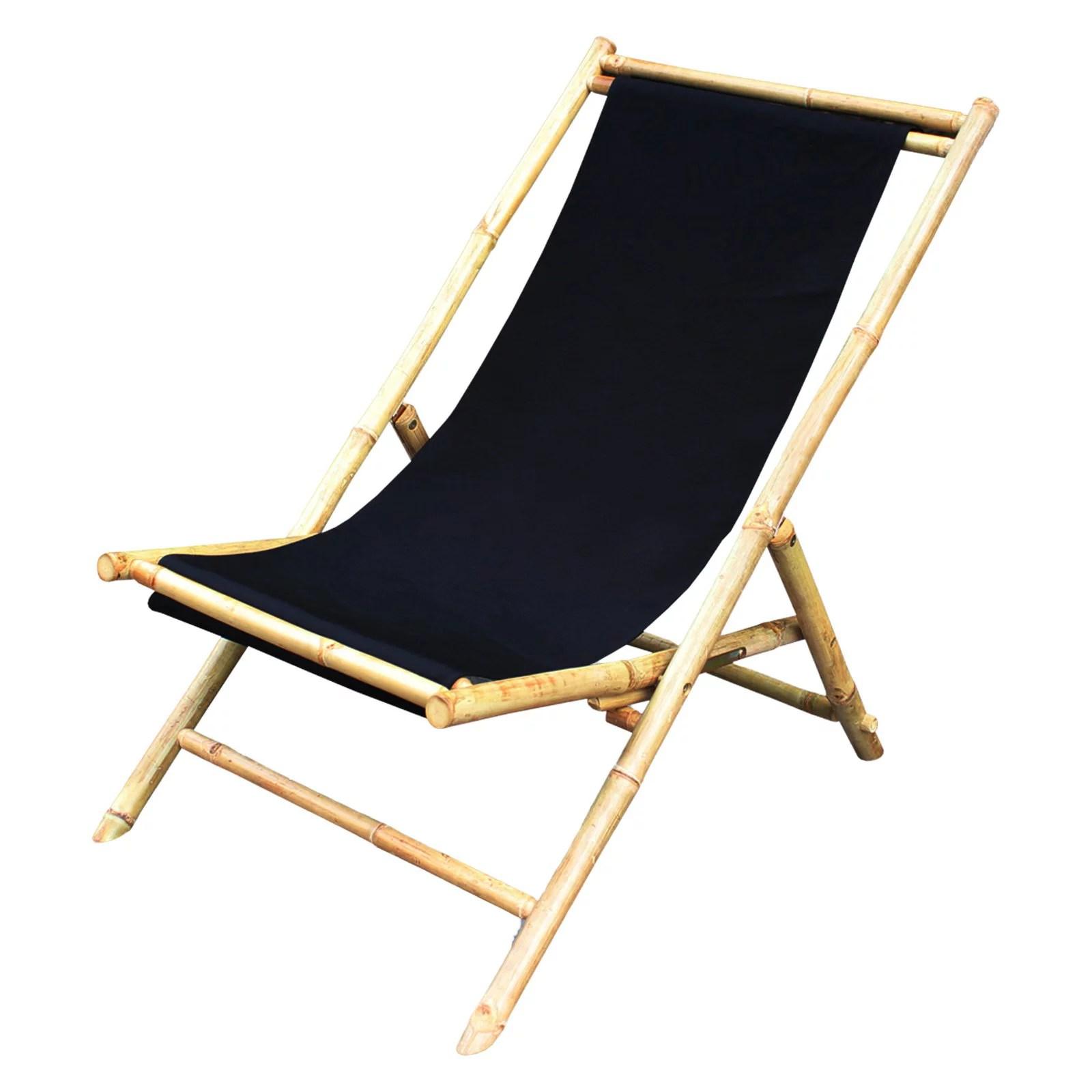 canvas sling chair diy gym statra folding bamboo relax walmart com