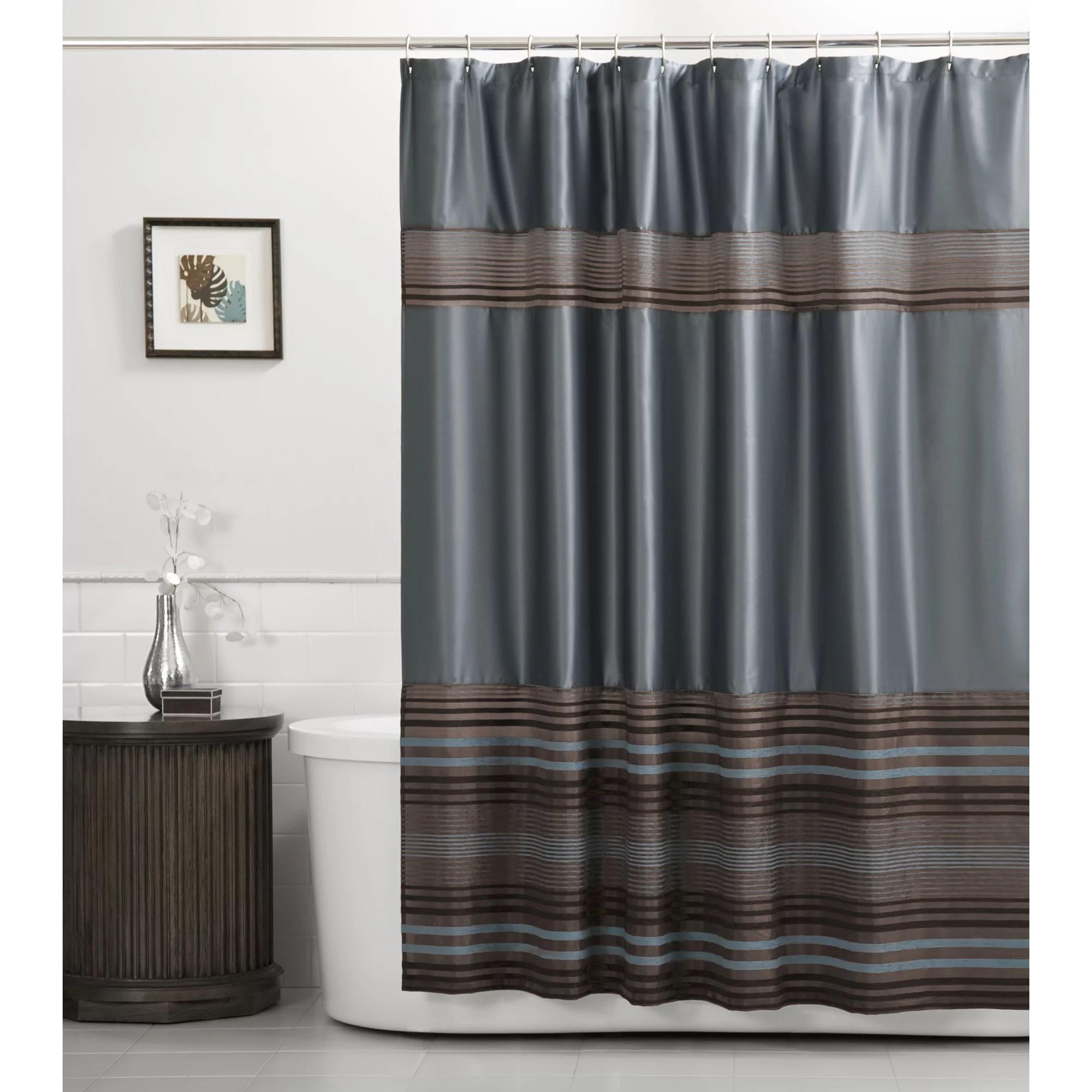 Mark Fabric Blue Shower Curtain 1 Each Walmart Com