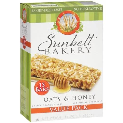 Sunbelt Bakery Oats amp Honey Chewy Granola Bars 15 count