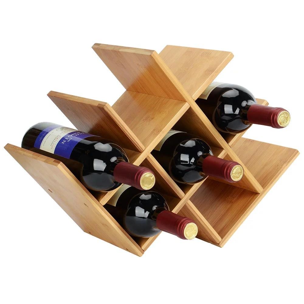 sortwise wood wine rack wine storage shelf organizer holder