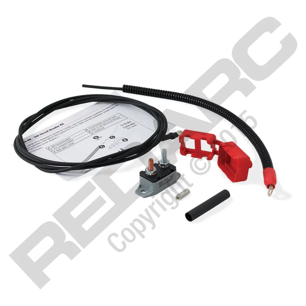 hight resolution of redarc cbk30 eb circuit breaker 30 amp for 3 axle electric trailer brake controller single with wiring and connections butt splice crimp and heat