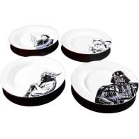 Star Wars Ceramic 4-Piece Dinner Plate Set - Walmart.com
