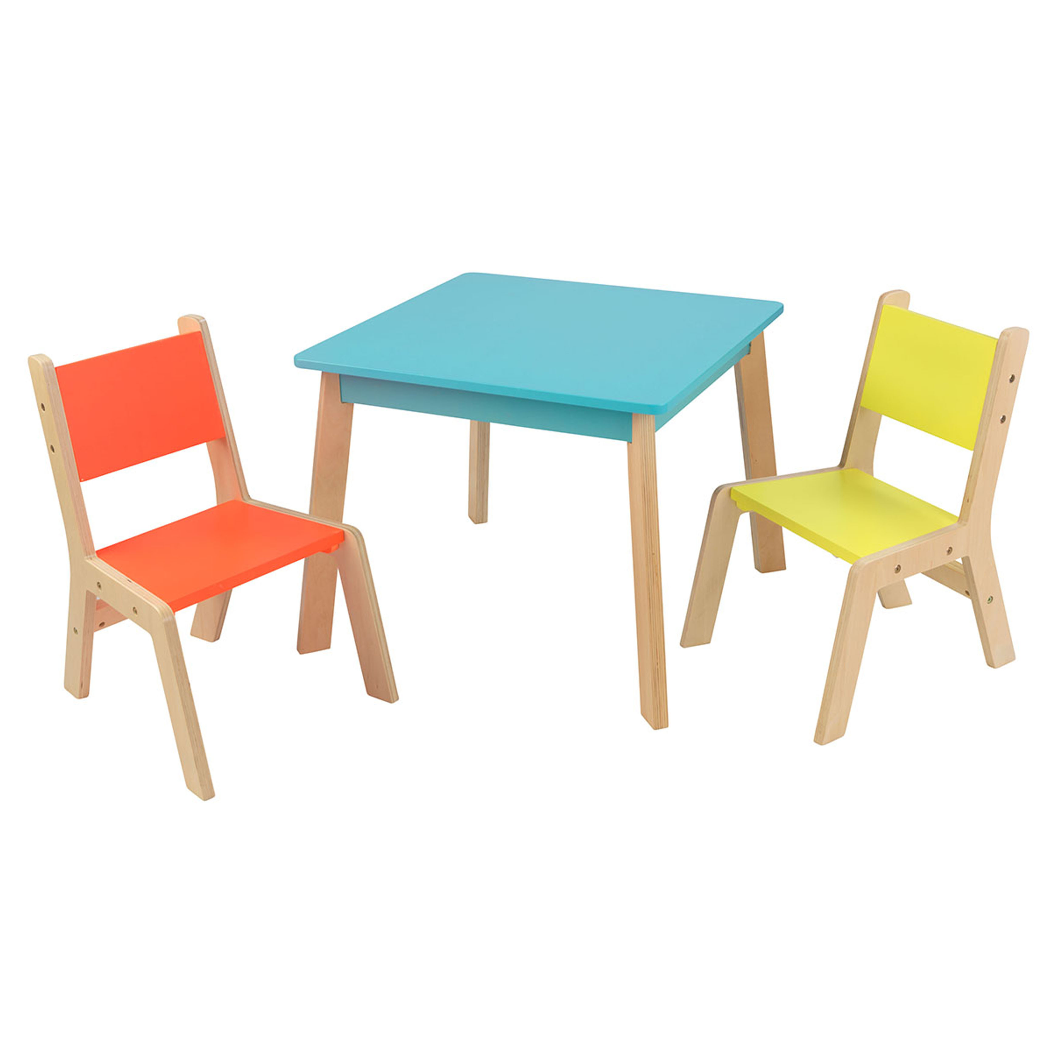 table and 2 chairs cheap papasan double chair kidkraft modern set multiple colors walmart com