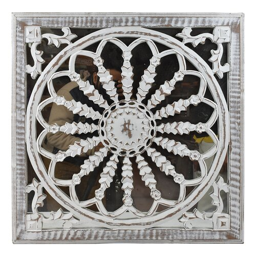 Bungalow Rose Wooden Carved Mdf Mirror Panel Wall Decor