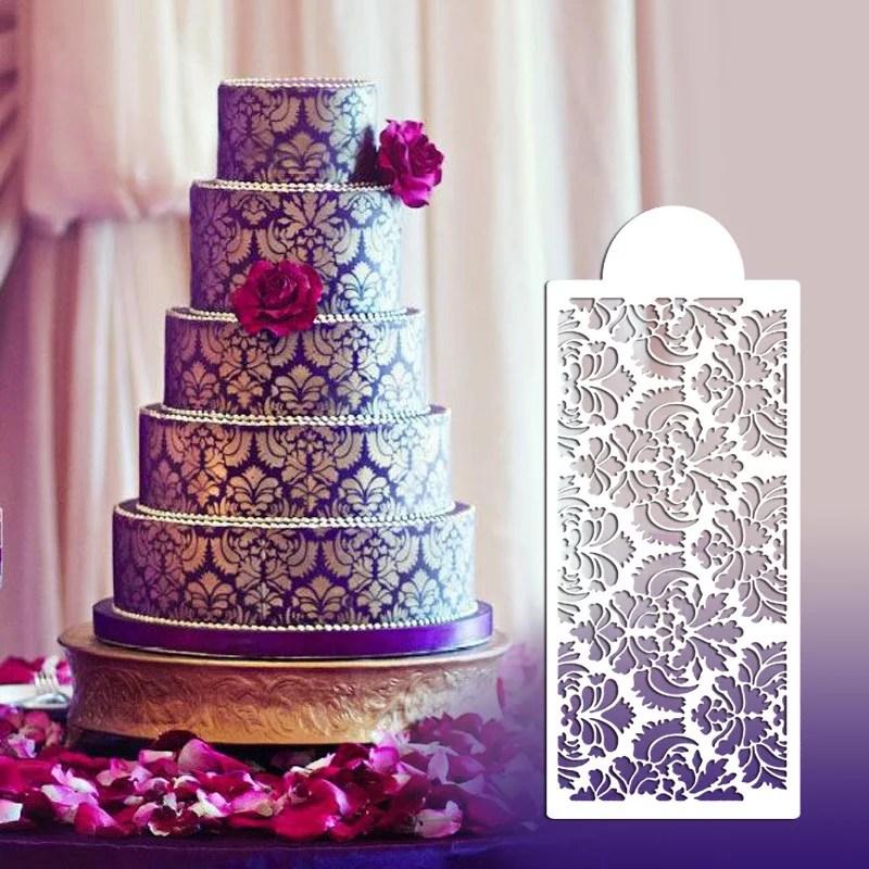 Damask Lace Border Cake Side Cupcake Stencil Sugarcraft