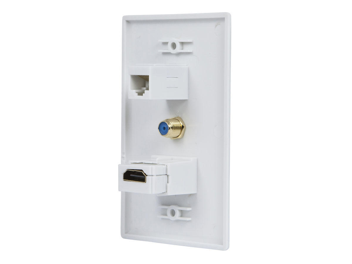 small resolution of liveditor recessed hdmi wall plate hdmi f type connector rj45 cat5 couplers walmart canada