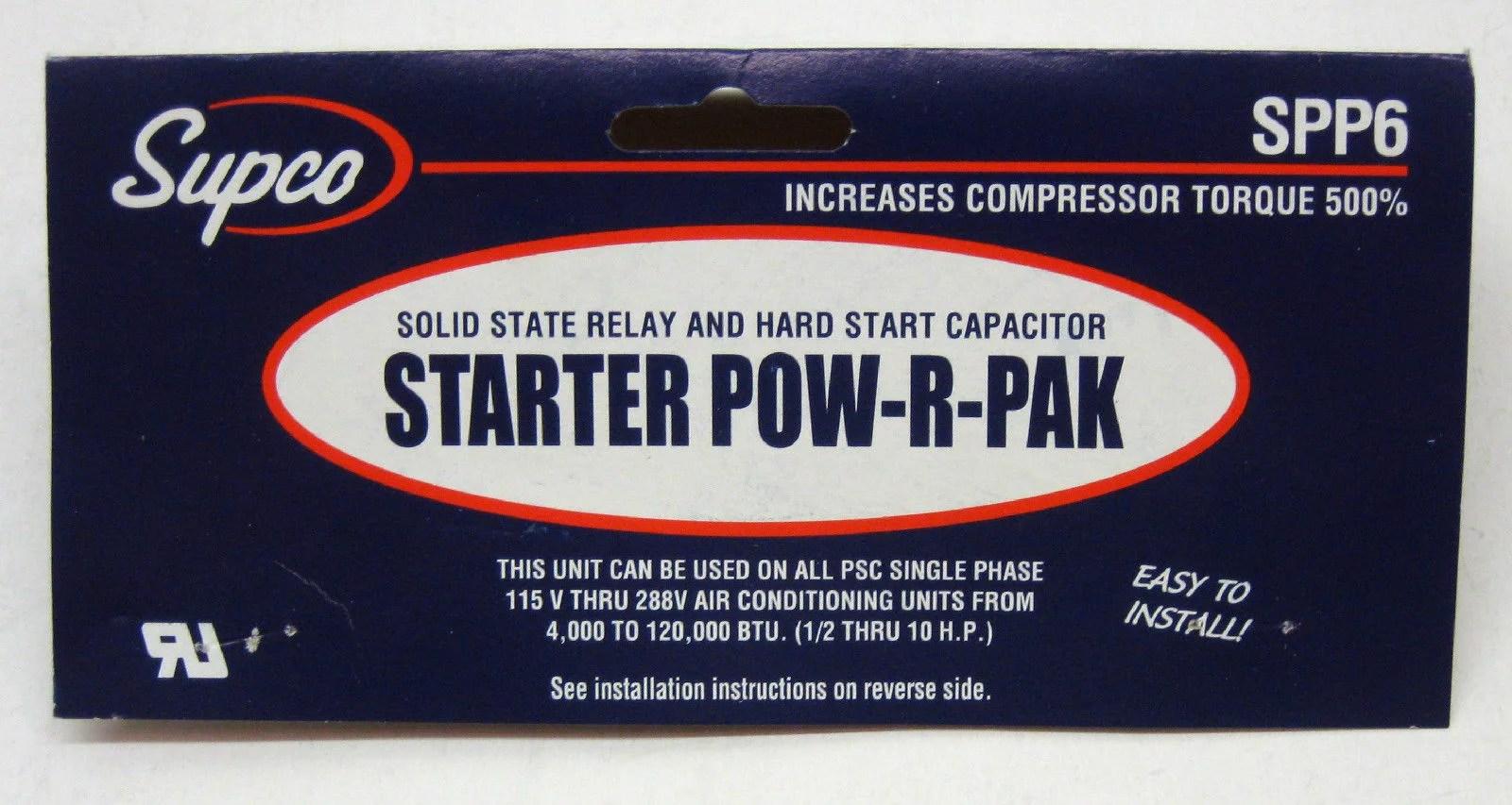 hight resolution of relay capacitor hard start kit 500 incr starting torque walmart com