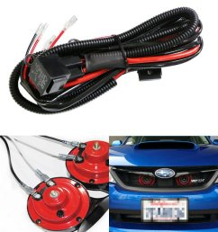 ijdmtoy 1 12v horn wiring harness relay kit for car truck grille mount blast tone horns actual horn not included walmart com [ 1000 x 1000 Pixel ]