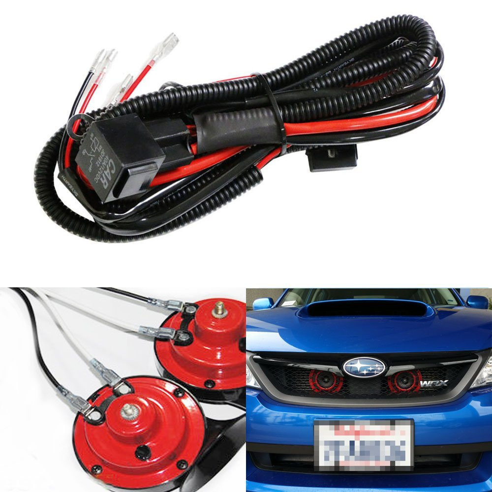 medium resolution of ijdmtoy 1 12v horn wiring harness relay kit for car truck grille mount blast tone horns actual horn not included walmart com
