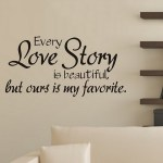 Wall Sticker Quotes Kapmore Creative English Love Letter Wall Decal Wall Decor For Living Room Bathroom Bedroom Walmart Com