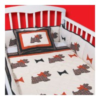 Patch Magic Scottie 9 Piece Crib Bedding Set - Walmart.com