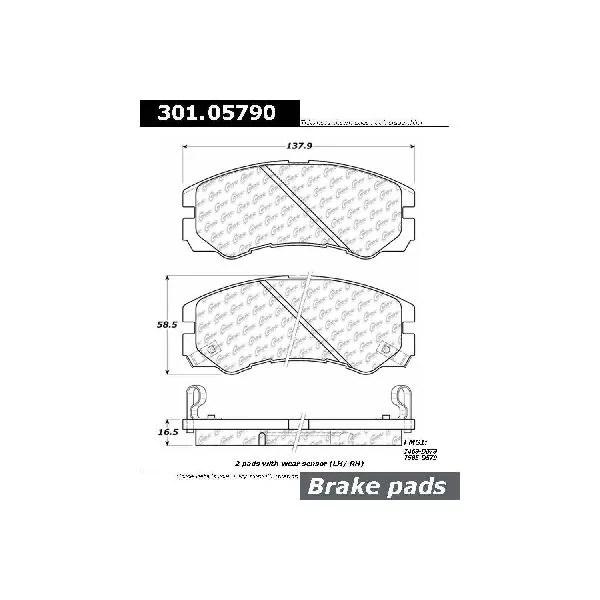 Rides2Racers Premium Ceramic Pads w/Shims and Hardware
