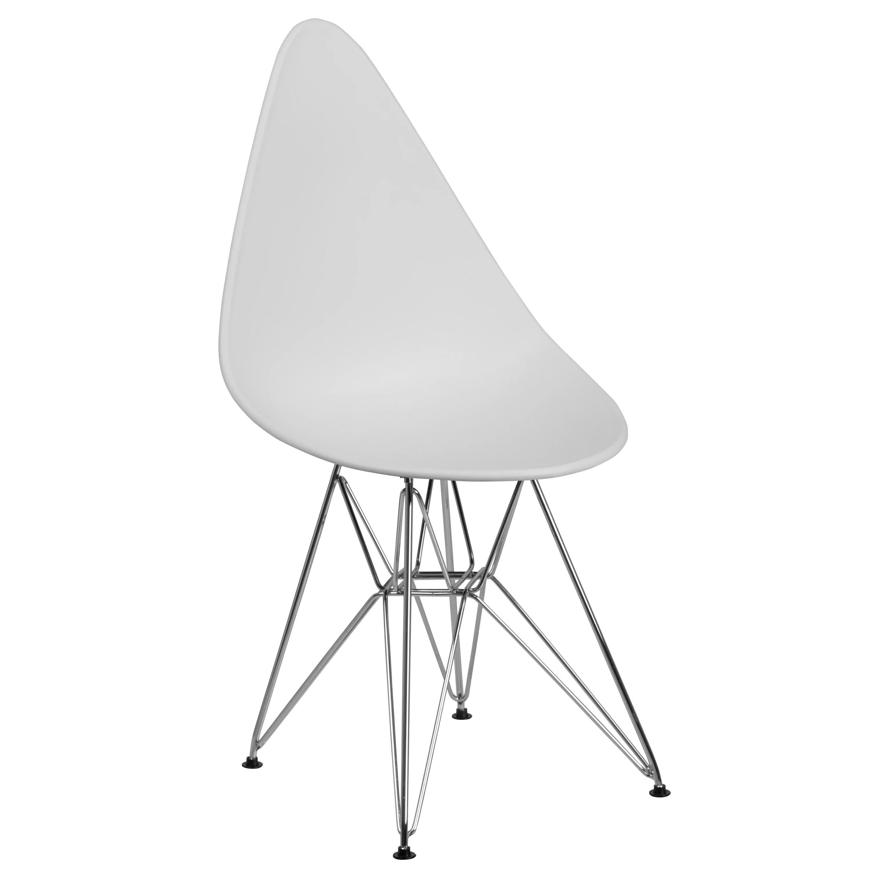 walmart white plastic chairs fuzzy chair target flash furniture allegra series teardrop with chrome base com