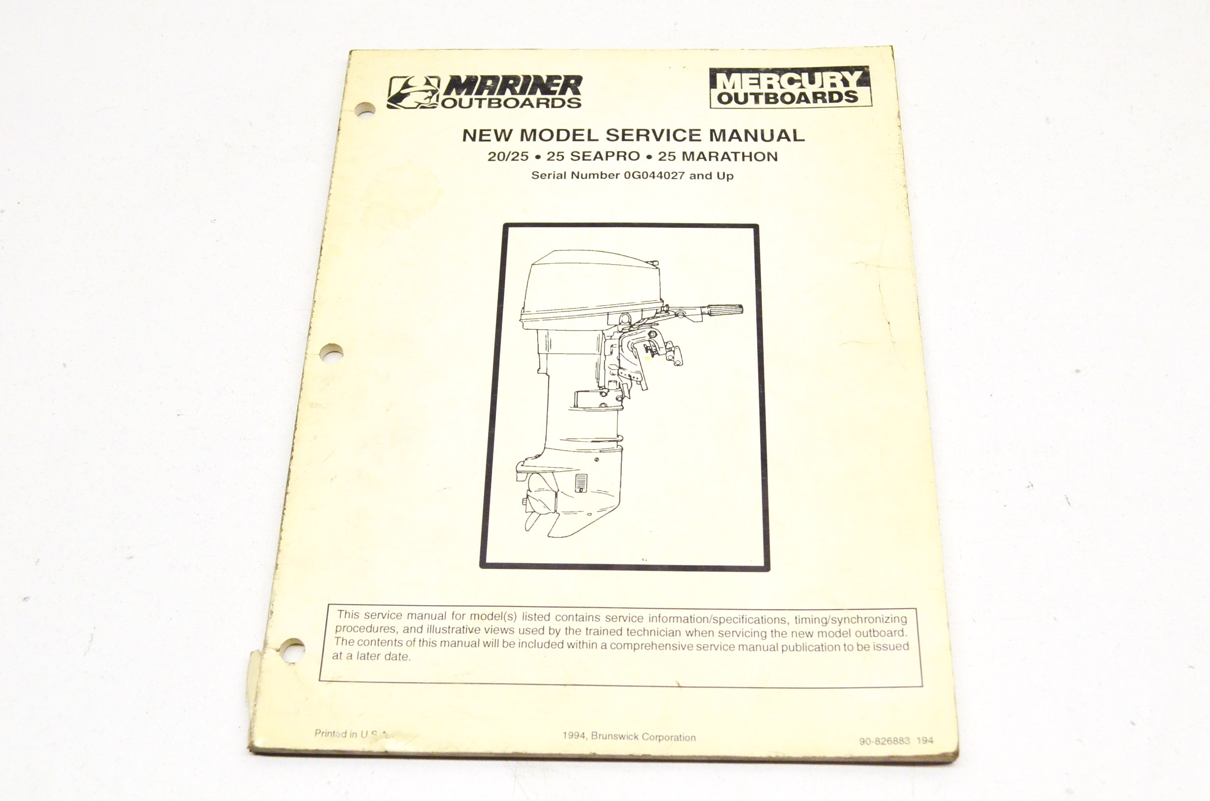 array mercury 90 826883 20 25 25 seapro 25 marathon service manual qty 1 rh [ 2464 x 1632 Pixel ]