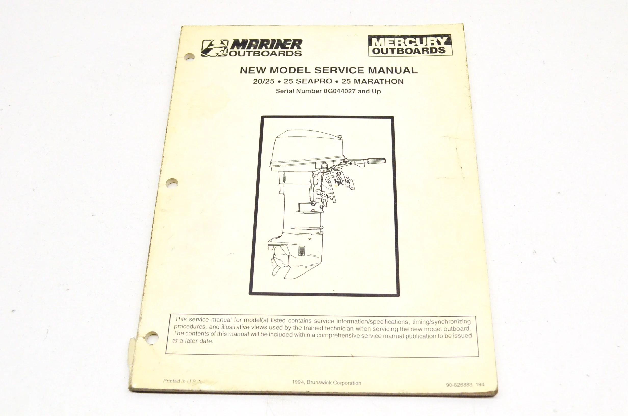 hight resolution of  array mercury 90 826883 20 25 25 seapro 25 marathon service manual qty 1 rh