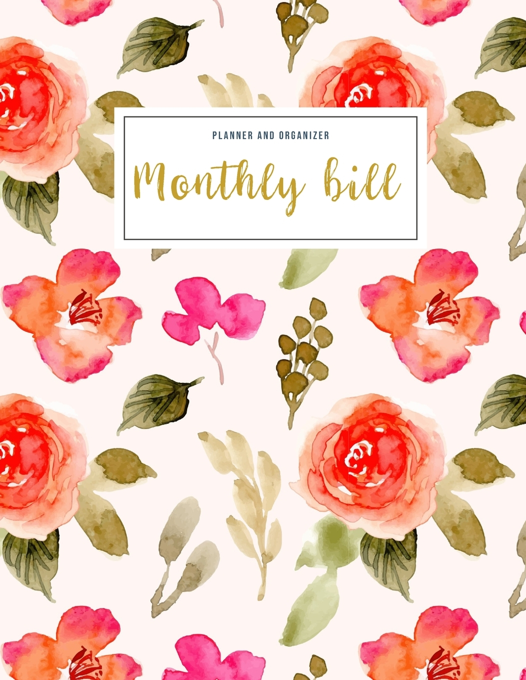Financial Planner Budget Book Monthly Bill Planner And