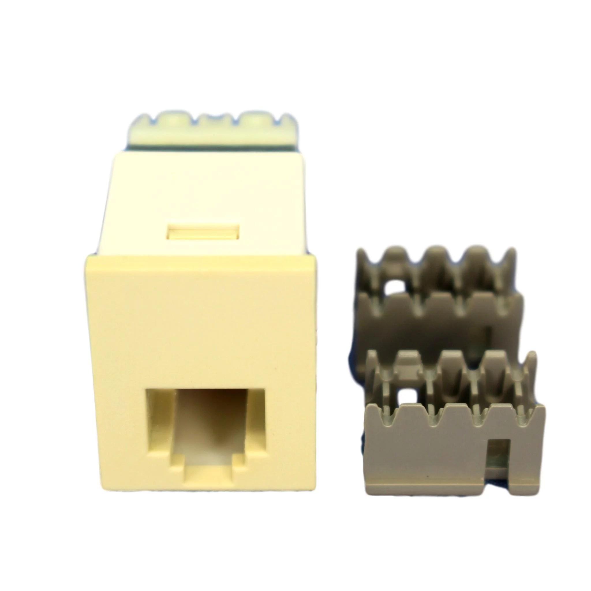 p s ivory smooth 6 wire phone jack rj25c telephone usoc wiring 6p 6c cat3 category 3 s6u i 6 wire phone jack wiring [ 2048 x 2048 Pixel ]