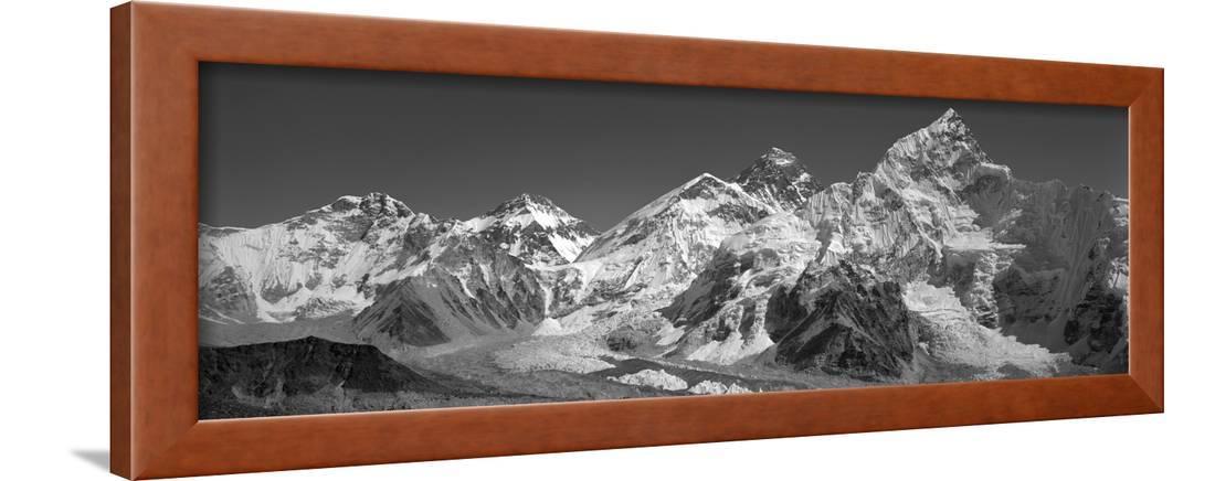 Himalaya Mountains Nepal Framed Print Wall Art By