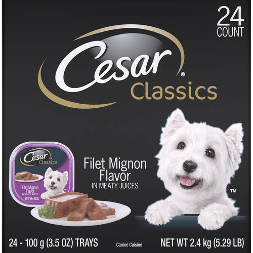 Cesar Classics Filet Mignon Flavor In Meaty Juices Wet Dog