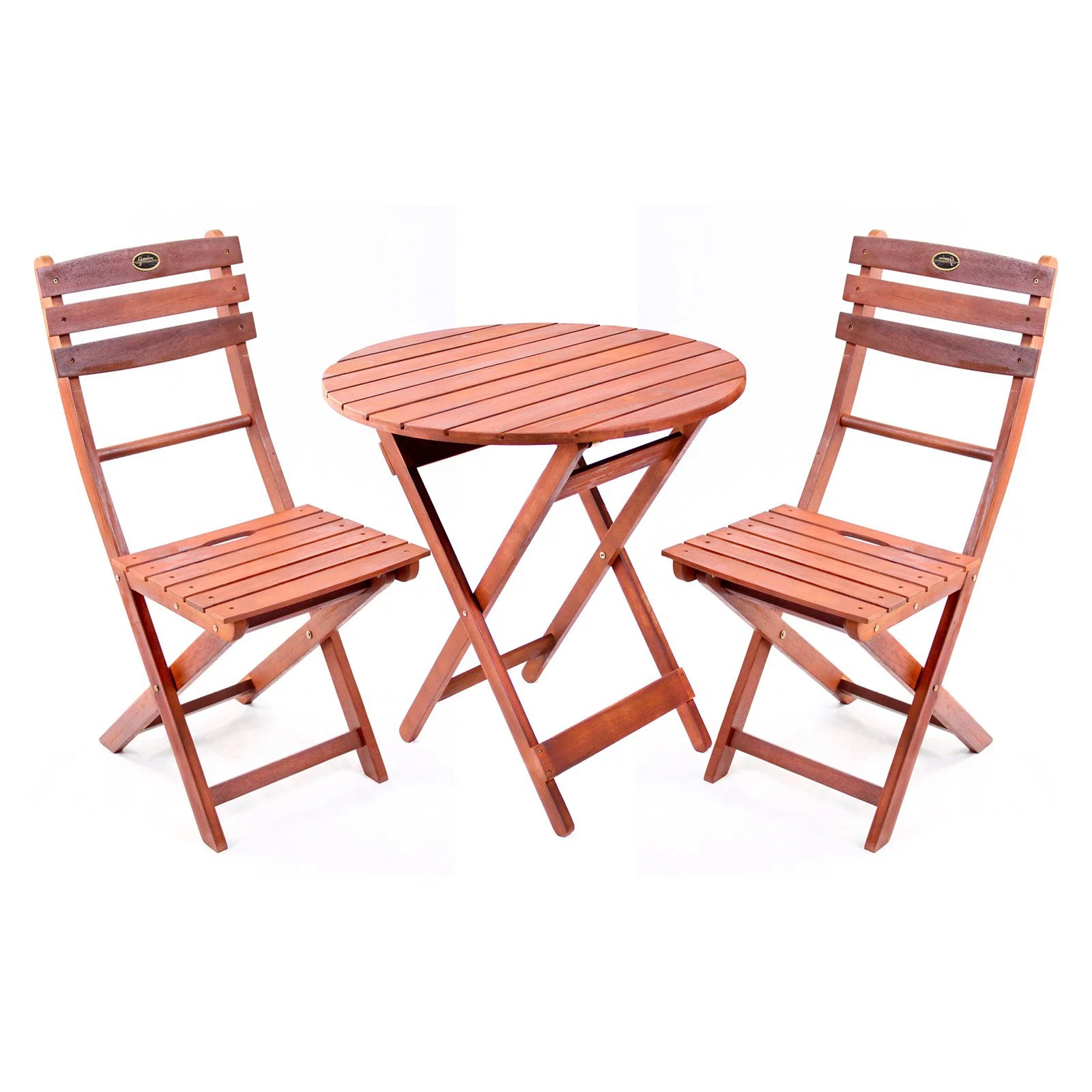 folding wooden chairs ashley showood accent chair 3 piece bistro set with walmart com