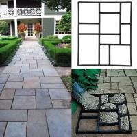 Topeakmart Garden Concrete Paving Pathway Patio Path Brick ...