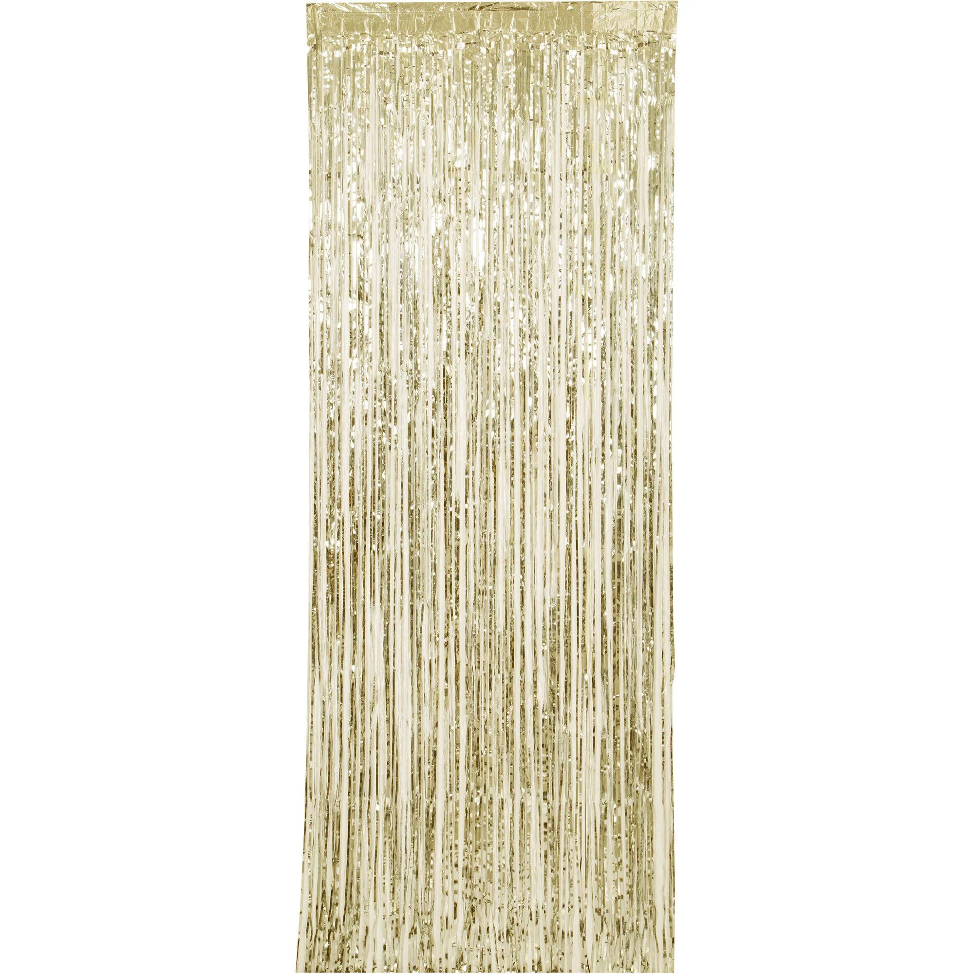 gold foil fringe door