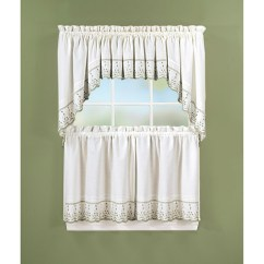 Swag Kitchen Curtains Inexpensive Cabinet Makeovers Abby Tier Pair Or Valance Sage Walmart Com