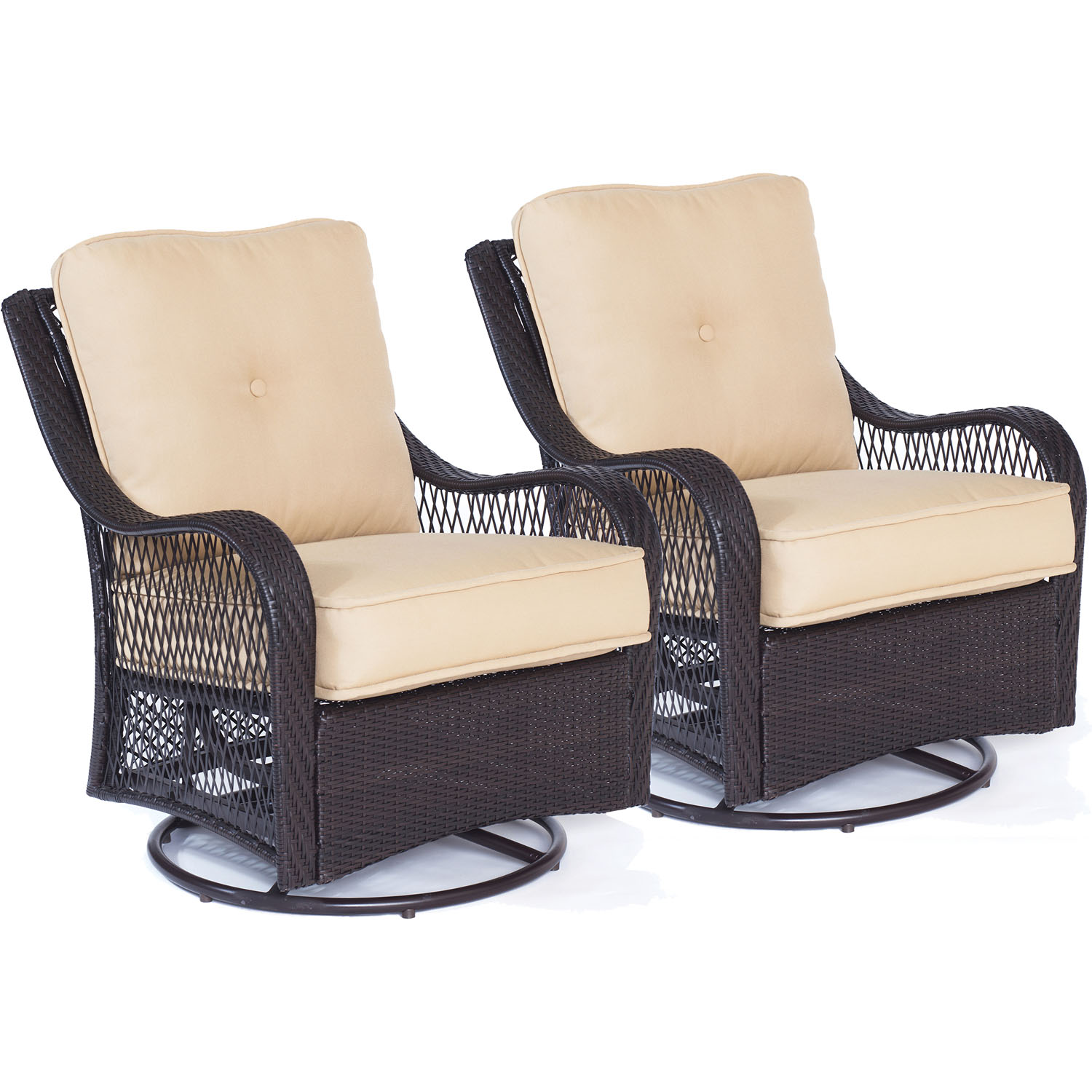 Swivel Rocking Chairs Hanover Orleans Outdoor Swivel Rocking Lounge Chairs