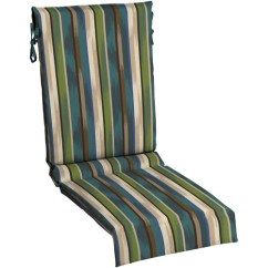 Re Sling Patio Chairs Clip On Umbrella For Chair Nz Mainstays Outdoor Cushion, Green Blue Stripe - Walmart.com