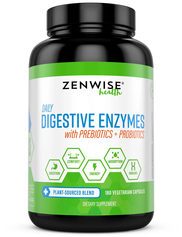 Zenwise Health Digestive Enzymes with Prebiotics ...