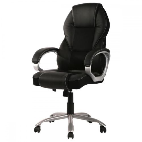 modern grey leather office chair sit up baby bath high back pu ergonomic executive task swivel t96 walmart com
