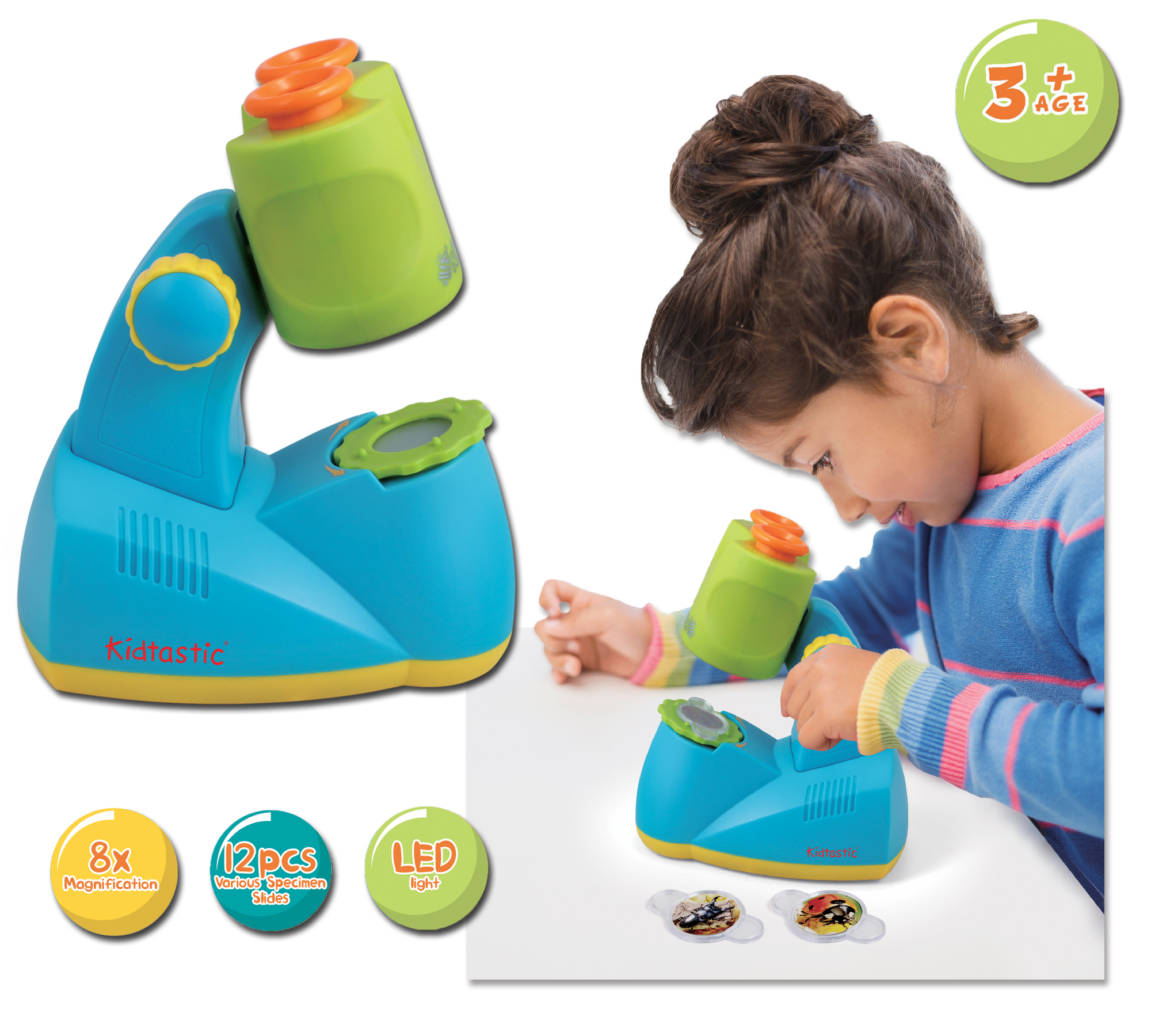 Kidtastic Microscope Science Kit For Kids Fun Learning