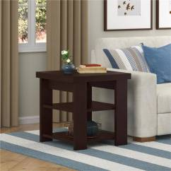 Living Room End Tables Area Rug In Placement Ameriwood Home Jensen Table Multiple Colors Walmart Com