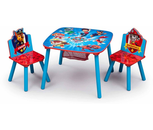 Nick Jr Dora The Explorer Wood Kids Storage Table And Chairs Set By Delta Children Walmart Com