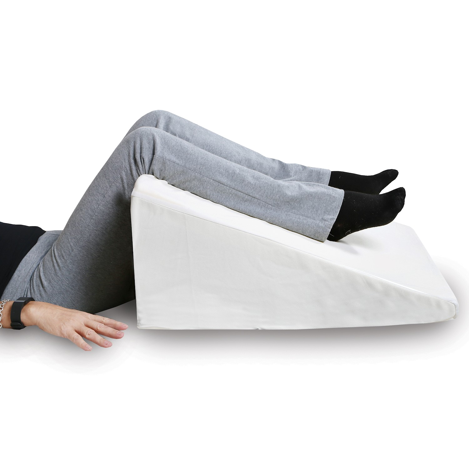 support plus bed wedge pillow premium hybrid memory foam triangle cushion to elevate upper body