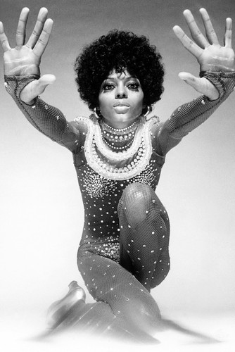 diana ross stunning in sequined dress hands outstretched iconic 24x36 poster
