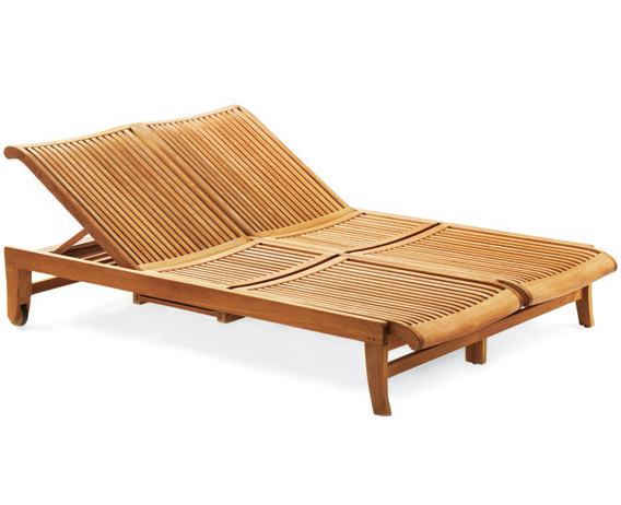wholesaleteak outdoor patio grade a teak wood multi position sun double chaise lounger steamer with slide out tray furniture only giva collection