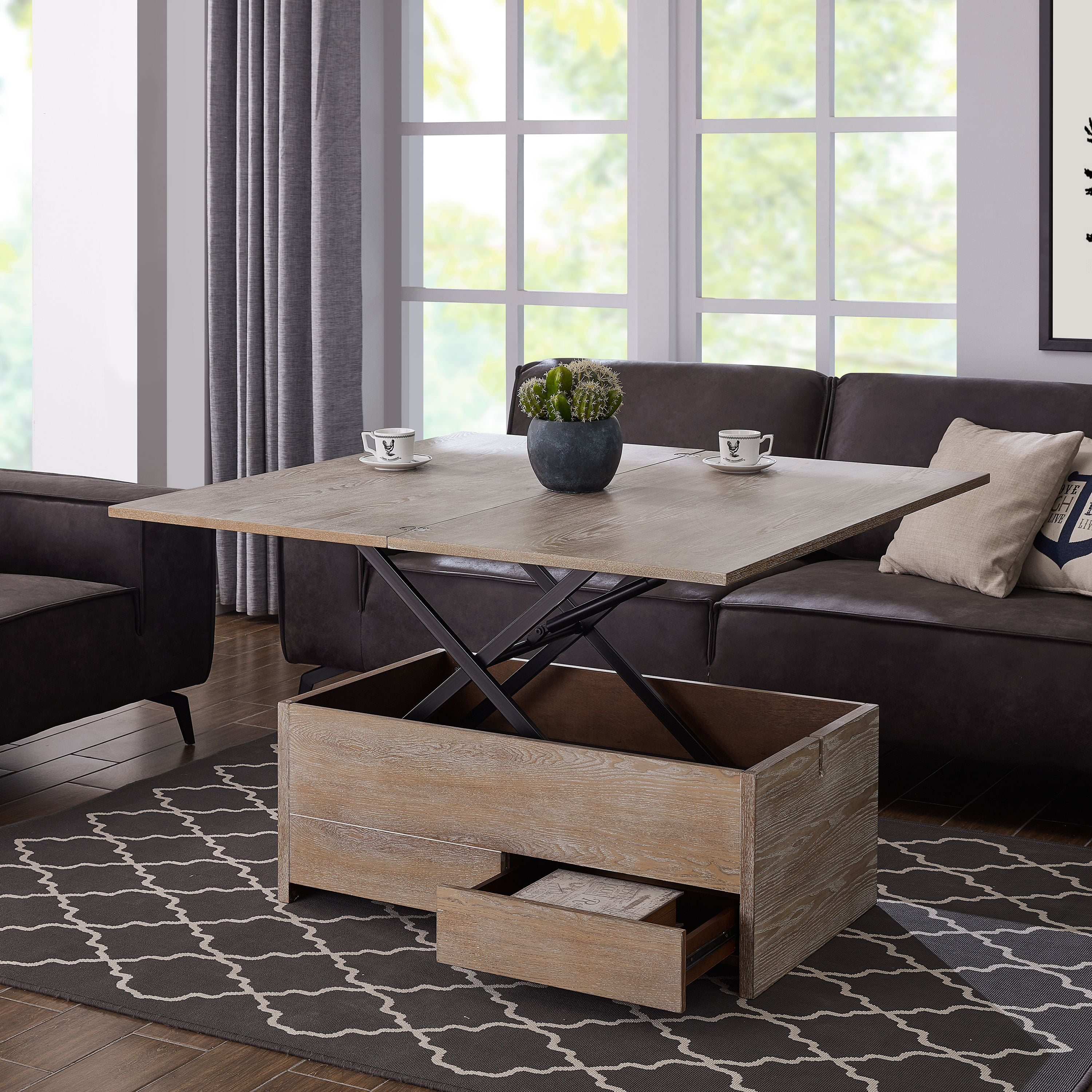 acor convertible storage coffee table to dining table walmart com