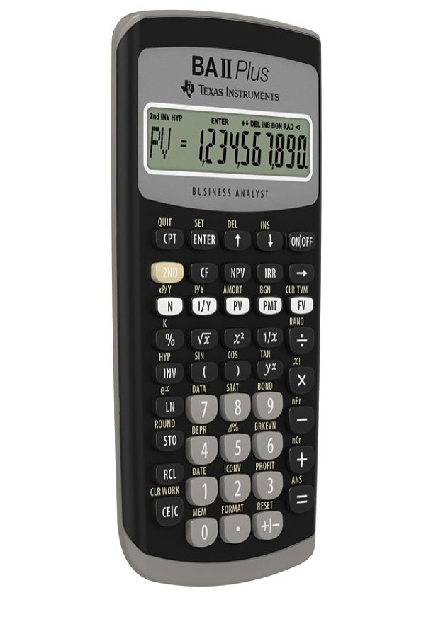 Texas Instruments Ba Ii Plus : texas, instruments, BA-II, Advance, Financial, Calculator,, Walmart.com