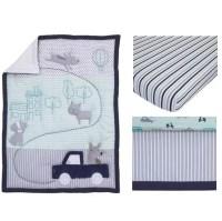 Child of Mine Cars 3 Piece Crib Bedding Set - Walmart.com