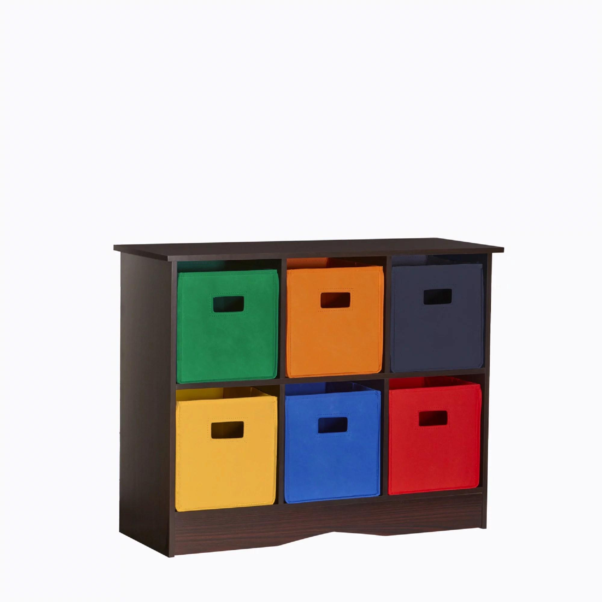 RiverRidge Kids 6 Bin Storage Cabinet  EspressoPrimary