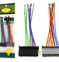 dnf wiring harness for factory stereos radios for select ford lincoln mercury vehicles 71 1770 100 copper wires walmart com [ 1500 x 1337 Pixel ]