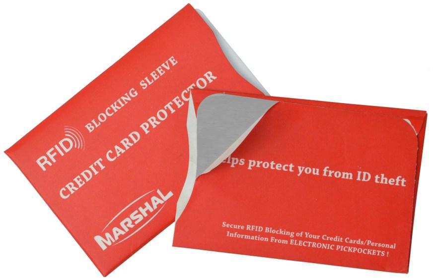 RFID Credit Card Sleeve VS TB13001C Red - Walmart.com
