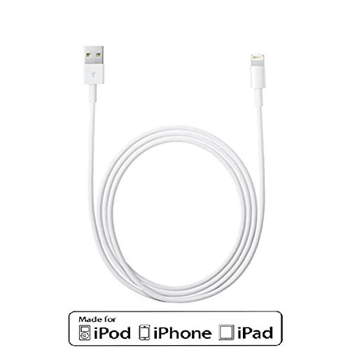 Lightning 8-Pin Cable, White 10ft Lightning to USB Charger